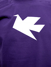 peace-dove, t-shirt, purple – Front