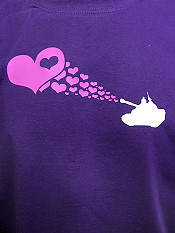 love-army, t-shirt, purple – Front