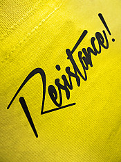 résistance, t-shirt, yellow – Back
