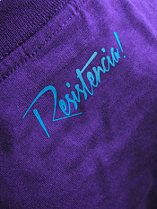 résistance, t-shirt, purple – Back